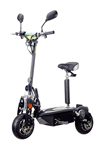VECTORSCOOTERS 1000W Scooter patinete eléctrico, 48V, batería SLA, Carretera legal