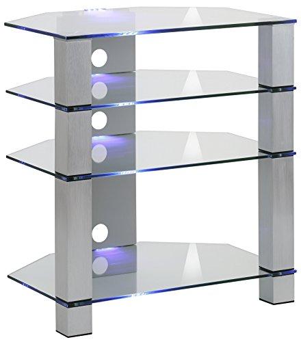 fernsehmoebel glas Maja Möbel TV-Rack, Glas, Metall Alu-Klarglas, 70,00 x 50,00 x 77,00 cm