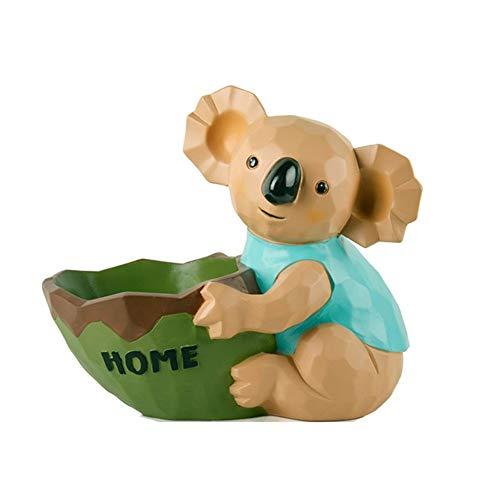 1949shop Koala Aufbewahrungsbox Ornamente Harz Kreativität Wohnzimmer Couchtisch Candy Platte Fernbedienung Schlüssel Trümmer Lagerung Dekoration -