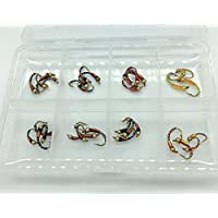 Juego de ninfas para pesca con mosca de BestCity, 32 unidades, tamaño 10/14, caja incluida