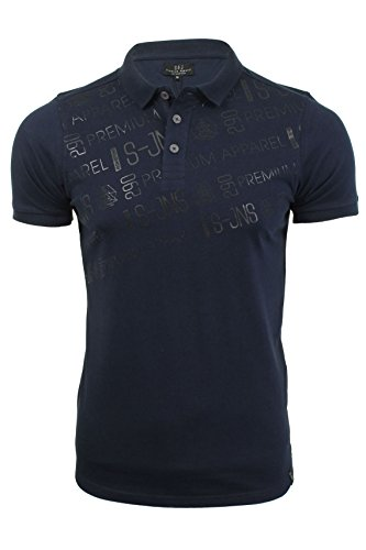 Herren Polo T-Shirt von Smith & Jones kurzärmlig Navy Blazer