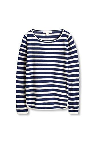 ESPRIT Damen Pullover Mehrfarbig (Dark Blue 2 406)