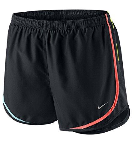 Short Nike Tempo Da Running 056 Noir / Noir / Hyper Orange / Argent Mat