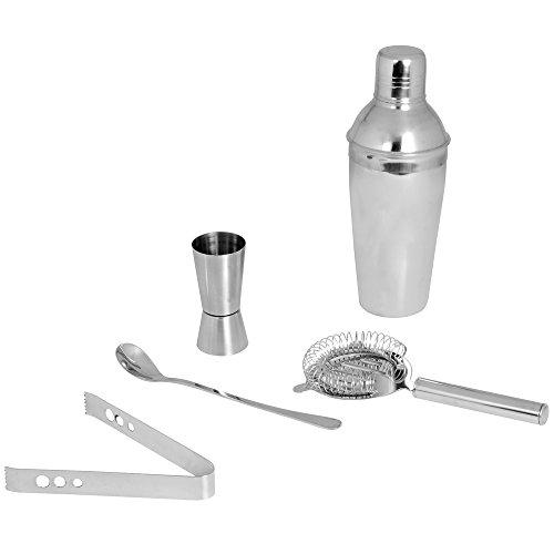 5-tool-kit (Kosma Cocktail Edelstahl Barware Kit | Bar Tools (Satz von 5 mit Cocktail Sieb, Cocktail Shaker 500 ml, Peg Vermesser 30 x 60 ml, Eis Tong 5.5