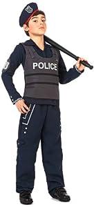 Atosa-12199 Policía Disfraz Policía, Color Negro, 10 a 12 años (12199)