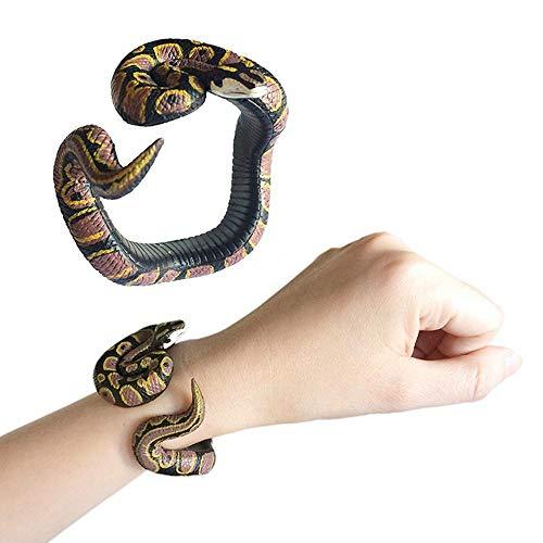 MOGOI Schlangen-Armband, Kunstharz, Tier-Python-Armband, handgefertigt, bemalt, PVC, Spielzeug Armbänder für Kinder ()