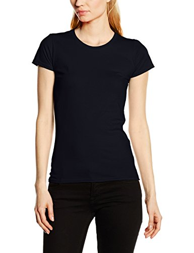 Fruit of the Loom Damen T-Shirt Ss125m Blue (Deep Navy)