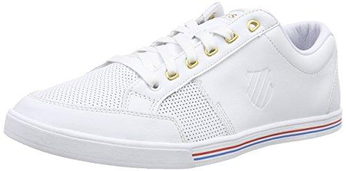 K-Swiss Match Court P, Herren Sneakers, Weiß (White/White 101), 44 EU (9.5 Herren UK)