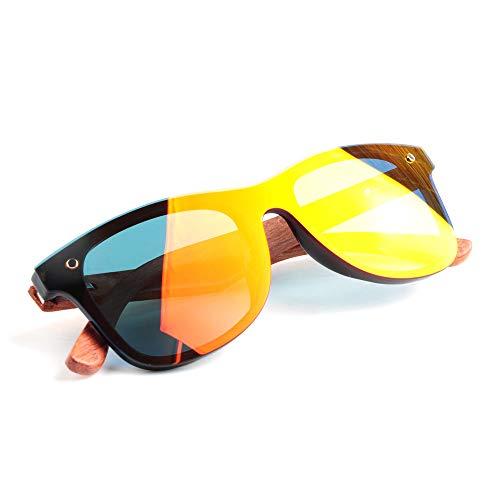 DelongKe Herren Sonnenbrille Polarisiert Retro,Federscharnier Für Herren Und Damen Klassisch Oval Ultraleicht Vintage Half Rim Metallgläser,orange