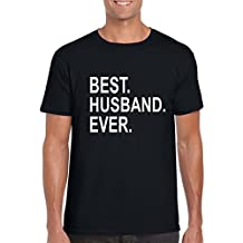 Giftsmate Valentine Gifts for Husband T-shirt Best Husband Ever Mens 100% Cotton Printed