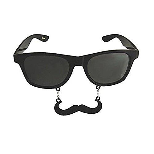 Fun Novelty Hanging Moustache Fancy Dress Party Wayfarer Sunglasses  1