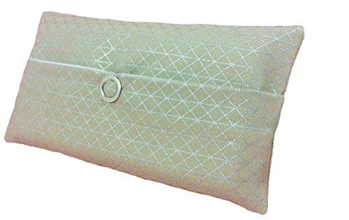 Poche de mouchoir geometrie argent verte bourse petite aventcalendre cadeau avent anniversaire amie tissu