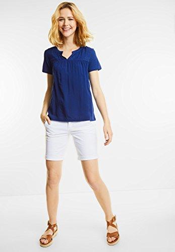 Street One Damen Tonig besticktes Shirt Sonja lapis blue (blau)
