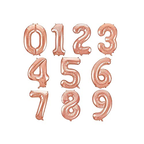 (1Pcs 40''Gold Number Balloon Aluminum Foil Helium Balloons Birthday Wedding Party Decor Celebration Inflatable Air Baloes,Rose Gold,Number 8,40inch)