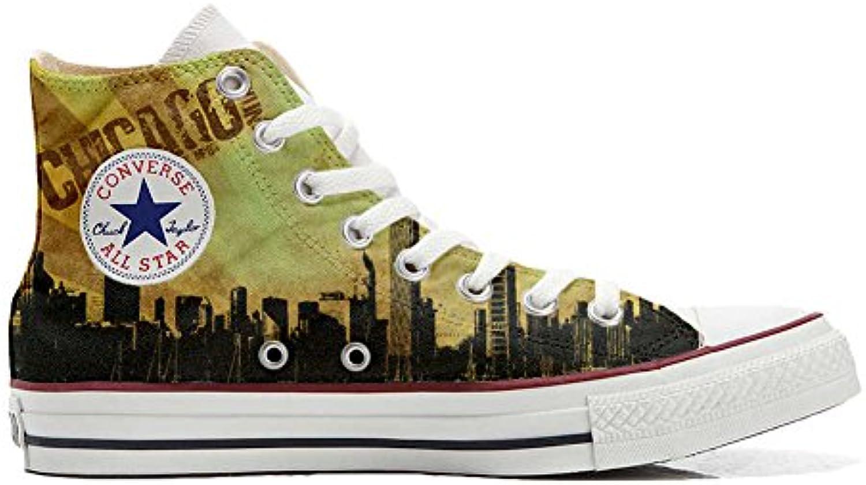 Make Your Shoes Converse All Star personalisierte Schuhe (Handwerk Produkt) Chicago Style