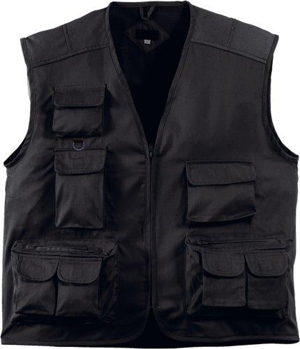 Preisvergleich Produktbild Handwerkerweste / Arbeitsweste / Montageweste, Farbe schwarz, Grösse XXL, TOP-Preis, viele Taschen