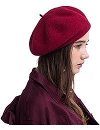 PassMe Boina Vasco de Mujer Invierno 100% Lana Gorro Francés Beret Beanie  Cálido Sombrero de 3f58cc8612b
