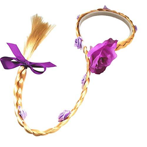 weinming inc Rapunzel - perücke Mädchen Haarband (Gold) (Rapunzel Kostüm Haar)