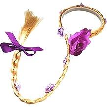 La protección del medio ambiente de pelucas de cabello largo niñas hairband accesorios ...