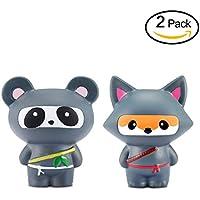 Yojoloin Decompression Slow Rising Fidget Toy Scented Rare JUNKE Divertimento, miglior regalo (Fox and Panda)