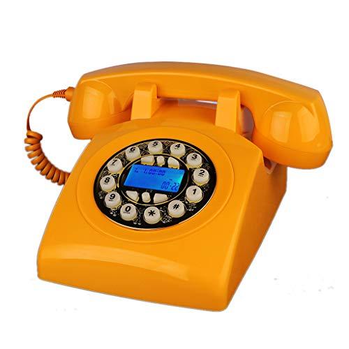 Este teléfono de inspiración retro trae lo último en colores modernos, nuevos, brillantes y vibrantes. Además, estos teléfonos fijos se han actualizado con tecnología moderna para garantizar que puedan trabajar en cualquier línea telefónica residenci...