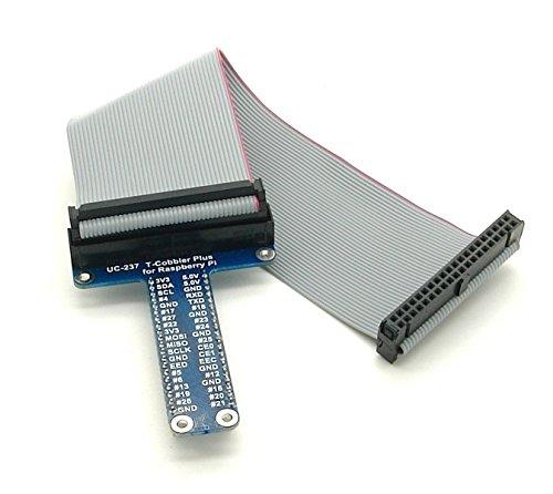 T-Cobbler - GPIO Breakout Adapter für Raspberry Pi B+ inkl. GPIO Kabel - Bereits komplett montiert! Keine Lötkenntnisse erforderlich! - Adapter Breakout-kabel