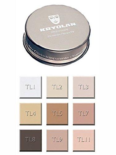 Kryolan Fixierpuder in Transparent 60g, Farbe: TL11