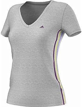 Women 's 3rayas de Adidas Essentials Seasonal Camiseta