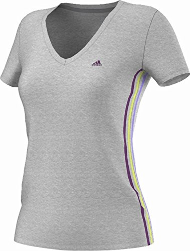 Adidas Essentials T-shirt pour femme Logo 3 bandes Gris