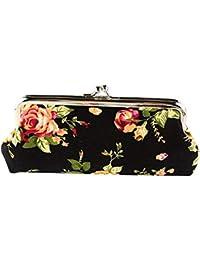 f29c3e418 Ruikey Cartera de Flores de Lona Carteras largas Mujer monederos Tela Mujer  monederos de Mujer para
