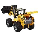 Fenteer 2.4G RC Ferngesteuertes Baufahrzeug Fernbedienung Auto Intelligentes Spielzeug mit Radlader Figur für Kinder ab 6 Jahre Alt