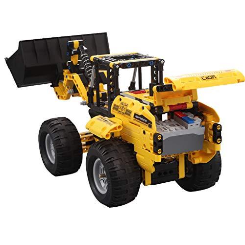 Fenteer 2.4G RC Ferngesteuertes Baufahrzeug Fernbedienung Auto Intelligentes Spielzeug mit Radlader Figur für Kinder ab 6 Jahre Alt*