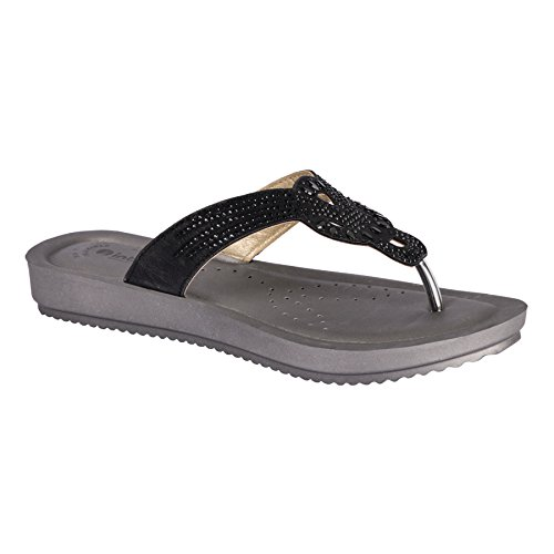 INBLU Branded Sandal Chappal for Women | Colour Balck| Flat Design Chappal for Women | chappals for Womens | Ladies Sandal | Footwear for Womens | Ladies Footwear | Size 6