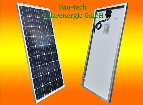bau-tech Solarenergie 130Watt Solarmodul Solarpanel Photovoltaik Solarzelle 130W 12V Monokristallin GmbH 130w Solarpanel