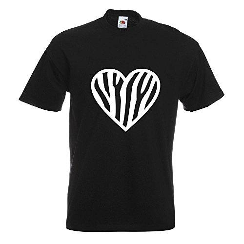 KIWISTAR - Zebra T-Shirt in 15 verschiedenen Farben - Herren Funshirt bedruckt Design Sprüche Spruch Motive Oberteil Baumwolle Print Größe S M L XL XXL Schwarz