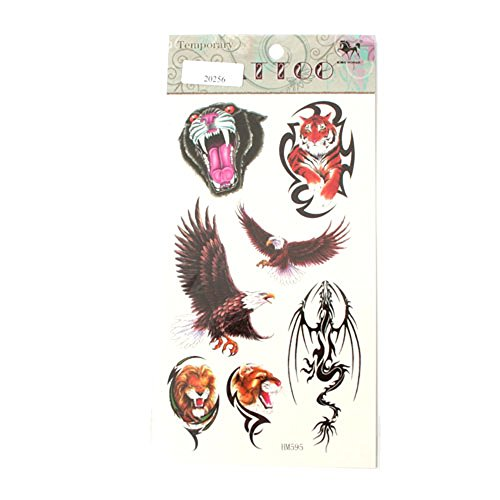 Große Tattoos Tiger Panther Löwen Adler Drachen