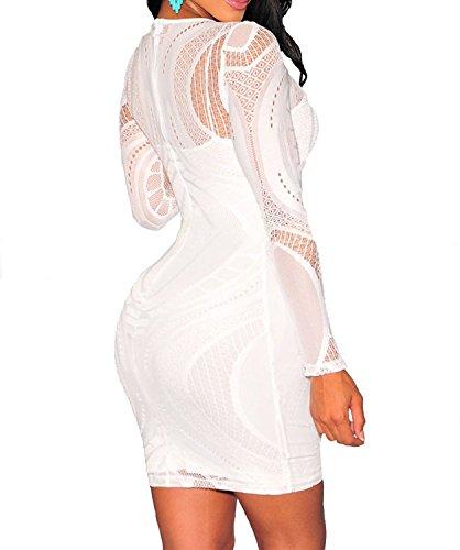 Deargirl - Robe - Femme Blanc - Blanc