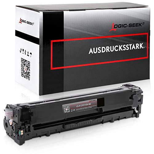 Logic-Seek Toner kompatibel zu HP CF210X Laserjet Pro200 M251n Color Laserjet Pro M251dw Laserjet Pro 200 M276nw M251NW - 131X - Schwarz 2.400 Seiten