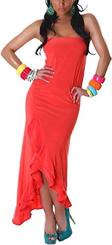 Jela London -  Vestito  - Astuccio - Basic - Donna Arancione