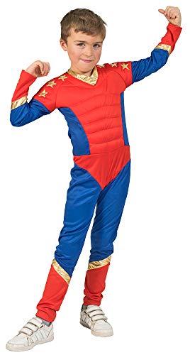 Kostüm Kinder Superboy - Funny Fashion Superboy Superheld Kostüm für Jungen - Gr. 152