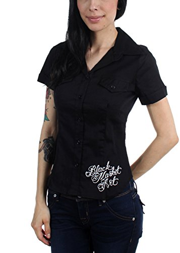 Black Market Art - Damen-Bluse Eve, Small, Black Black Market Art