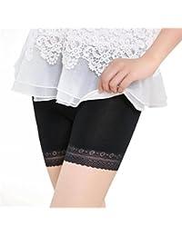SHOBDW Moda Las Mujeres de Encaje Tallas Grandes Cintura Media Faldas escalonadas Falda Corta bajo Pantalones