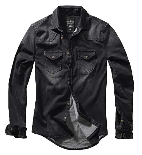 Brandit Denimshirt Riley - Black - XL