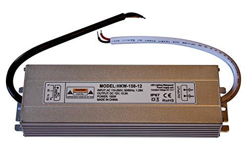 12v Ac Transformator 150w (20W-150W Netzteil Auktion - 12V DC LED Stromversorgung - Travo Transformator Wasserdicht IP 67 Stripe (150 Watt))