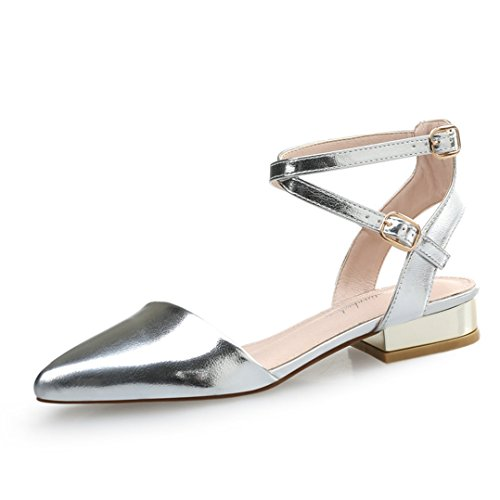XTIAN - Scarpe con cinturino alla caviglia Donna Argento