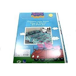 Biancheriaweb-Juego de ropa de cama infantil, diseño de peppa pig cartón para cama individual, diseño de cuna, color azul
