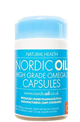 Nordic Oil High Strength Pharmaceutical Grade Omega 3 Fish Oil 1000mg Capsules. 3rd Party tested. Used by Professional Athletes and Recommended by Health Care Professionals. Safe for Pregnant Women and Children. Molecularly Filtered for the Highest Levels