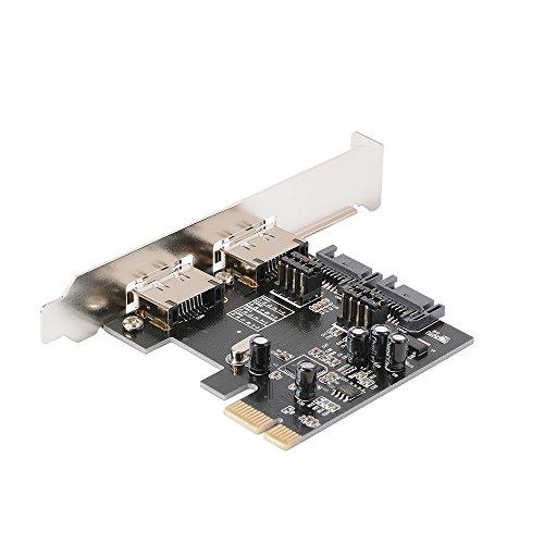 XCSOURCE® Schreibtisch PCIE auf SATA 3.0 Erweiterungskarte 2-Port SATA 3.0 + 2-Port ESATA Unterstützt SSD System Start Für Windows 2003 / XP / Vista / 7 AC329 - Erweiterungskarte Esata
