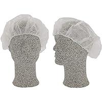 CS-Comfort – Gorro desechable para baretas, para mujer, color blanco, 100 unidades