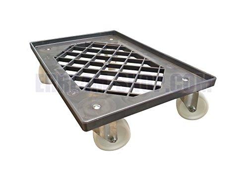 Carrello su ruote con griglia per trasportare cassette per impasto pizza da cm 60x40